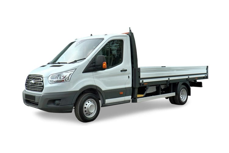 Ford Transit 350 L5 RWD 2.0 EcoBlue RWD 170PS Leader Premium Dropside Manual [Start Stop] front view
