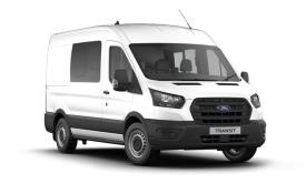Ford Transit Crew Van 350 L3 2.0 EcoBlue FWD 130PS Leader Crew Van Medium Roof Auto [Start Stop] [DCiV]